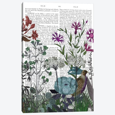 Wildflower Bloom, Partridge Book Print Canvas Print #FNK1924} by Fab Funky Canvas Print