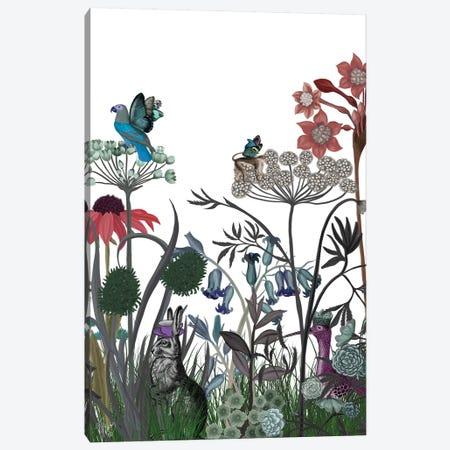 Wildflower Bloom, Rabbit Canvas Print #FNK1925} by Fab Funky Canvas Art Print
