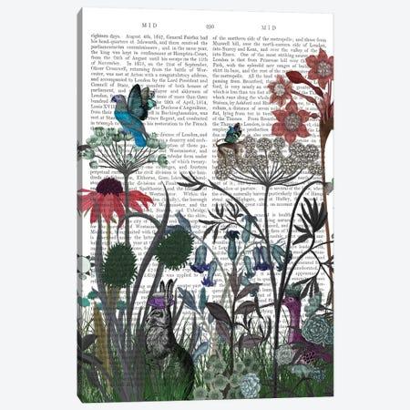 Wildflower Bloom, Rabbit Book Print Canvas Print #FNK1926} by Fab Funky Art Print