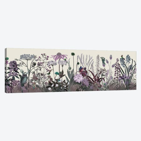 Wildflower Blush Canvas Print #FNK1929} by Fab Funky Canvas Artwork