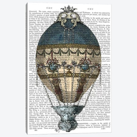 Baroque Fantasy Balloon I Canvas Print #FNK1} by Fab Funky Canvas Wall Art