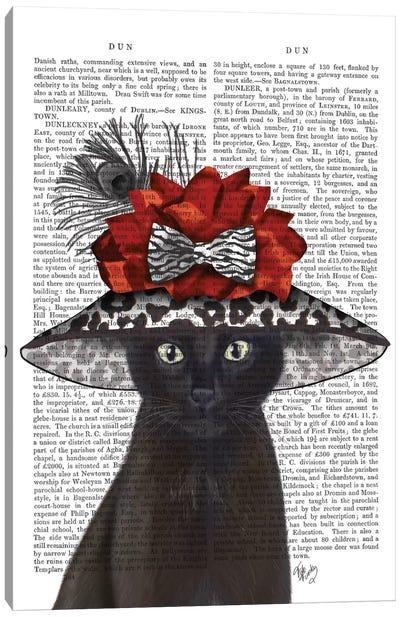 Cat With Fabulous Hat I Canvas Print #FNK203