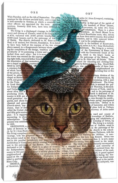 Cat With Nest And Blue Bird I Canvas Art Print