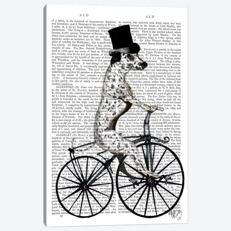 Dalmatian On Bicycle II Canvas Print #FNK20} by Fab Funky Canvas Print