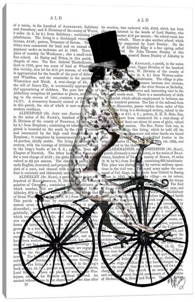 Dalmatian On Bicycle Canvas Print #FNK20