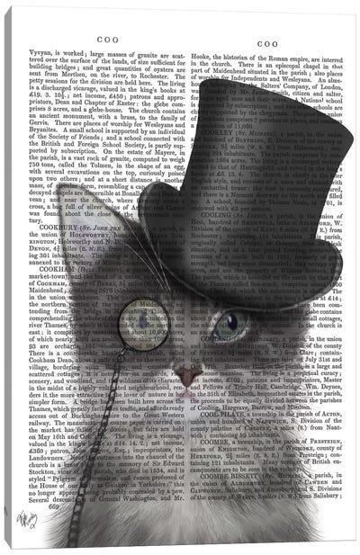 Cat With Top Hat I Canvas Print #FNK213
