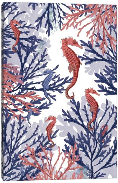 Coral And Seahorses Canvas Art Print