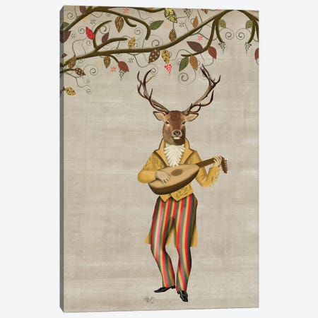 Deer Minstrel II Canvas Print #FNK225} by Fab Funky Art Print