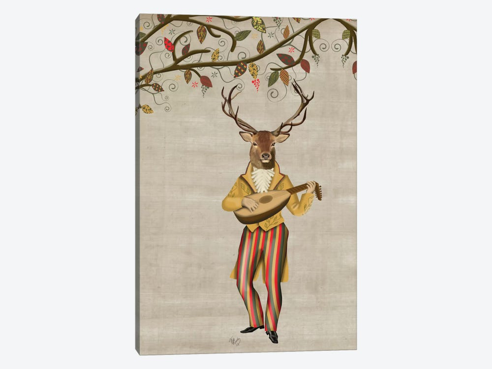 Deer Minstrel II by Fab Funky 1-piece Canvas Art