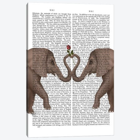 Elephant Heart I  Canvas Print #FNK237} by Fab Funky Canvas Art