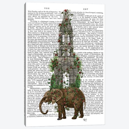 Elephant Tower I Canvas Print #FNK238} by Fab Funky Canvas Print