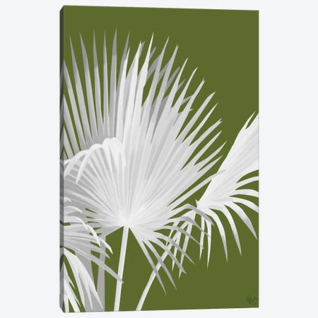 Fan Palm IV Canvas Print #FNK245} by Fab Funky Art Print