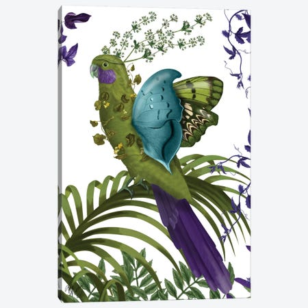 Fantasy Parrot Canvas Print #FNK246} by Fab Funky Canvas Art Print
