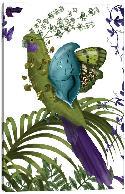 Fantasy Parrot Canvas Art Print