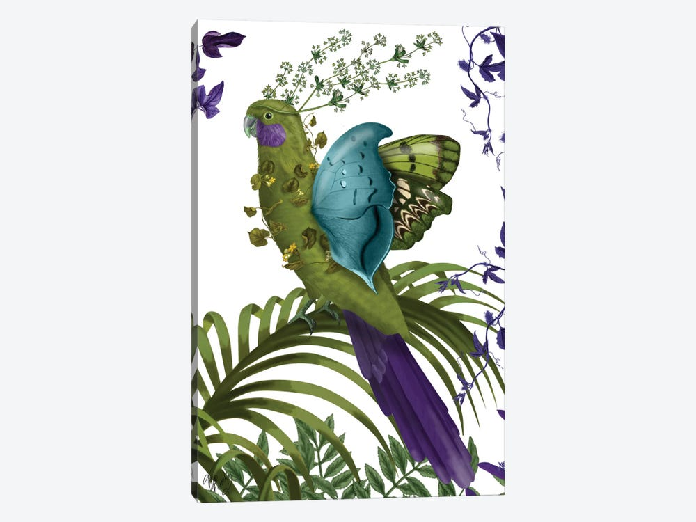 Fantasy Parrot by Fab Funky 1-piece Art Print