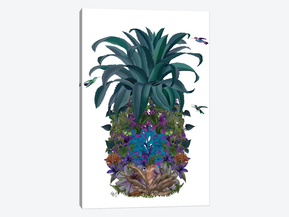 Floral Pineapple II by Fab Funky 1-piece Canvas Print