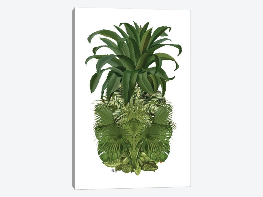 Floral Pineapple IV by Fab Funky 1-piece Canvas Print