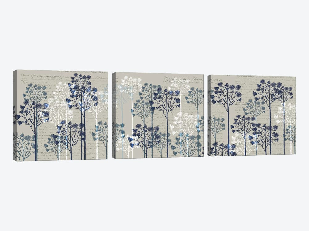 Floral Trees I by Fab Funky 3-piece Canvas Art