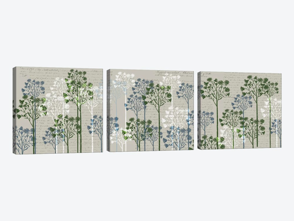 Floral Trees II by Fab Funky 3-piece Canvas Art Print