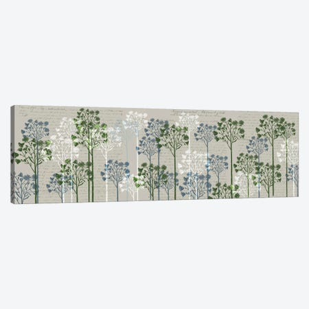 Floral Trees II Canvas Print #FNK255} by Fab Funky Canvas Artwork