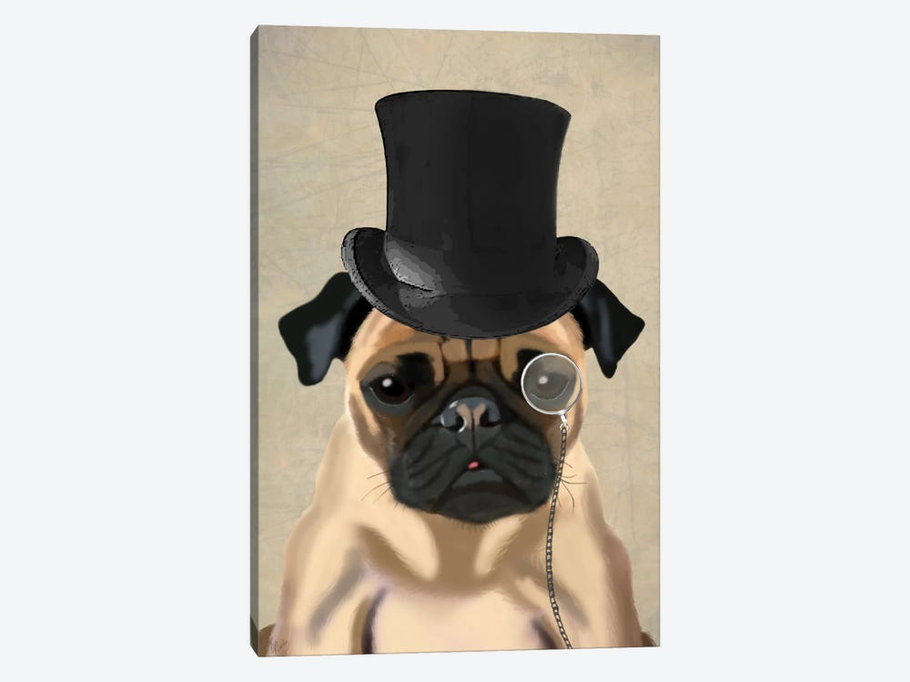 Pug II by Fab Funky 1-piece Canvas Art Print