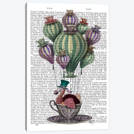 Dodo In Teacup II Canvas Print #FNK28} by Fab Funky Art Print