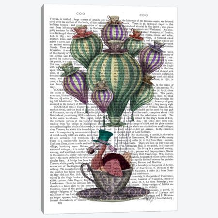 Dodo In Teacup II Canvas Print #FNK28} by Fab Funky Art Print