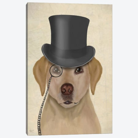 Yellow Labrador II Canvas Print #FNK290} by Fab Funky Art Print