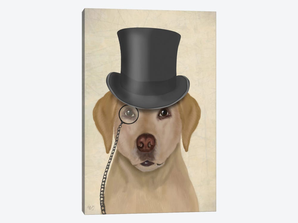 Yellow Labrador II by Fab Funky 1-piece Canvas Wall Art