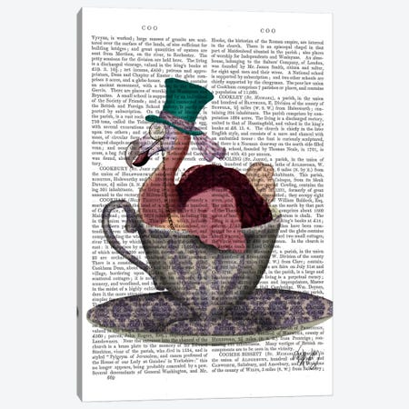 Dodo In Teacup Canvas Print #FNK29} by Fab Funky Canvas Print