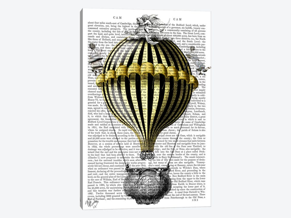 Baroque Fantasy Balloon II by Fab Funky 1-piece Canvas Art Print
