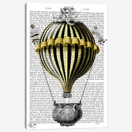 Baroque Fantasy Balloon II Canvas Print #FNK2} by Fab Funky Canvas Artwork