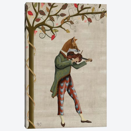 Fox Minstrel II Canvas Print #FNK300} by Fab Funky Art Print