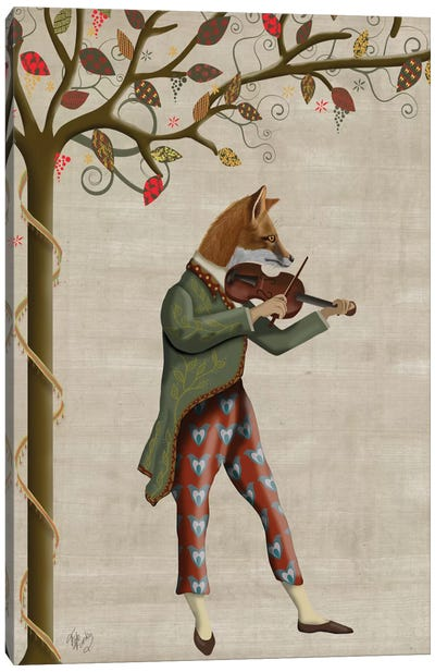 Fox Minstrel II Canvas Art Print