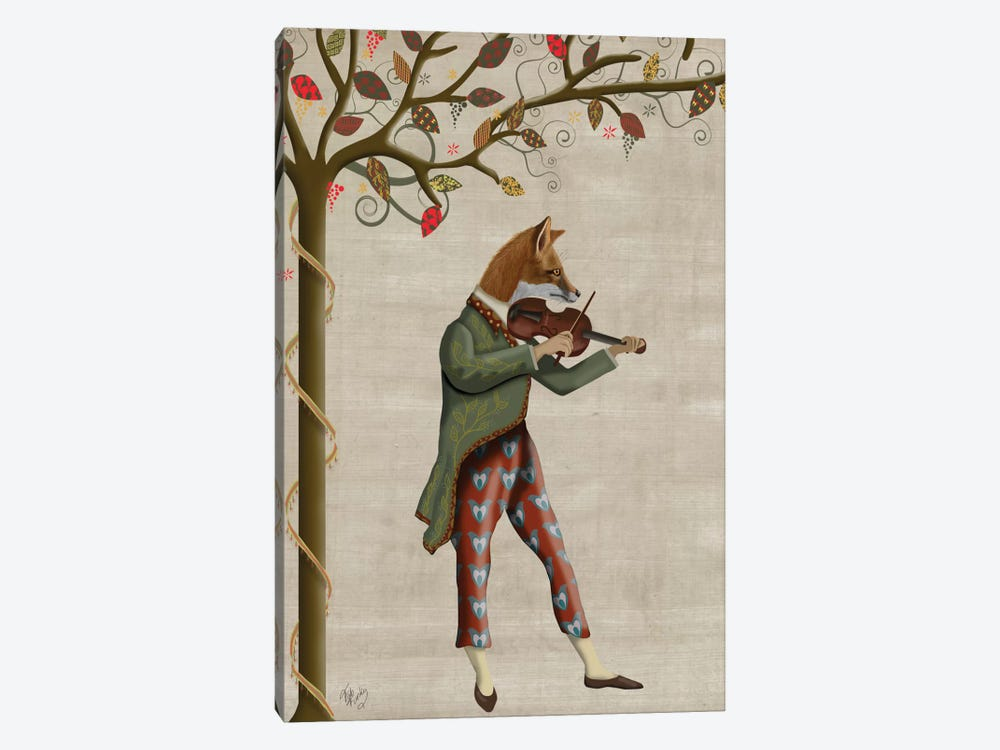 Fox Minstrel II by Fab Funky 1-piece Canvas Art
