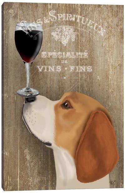 Dog Au Vine Beagle Canvas Art Print