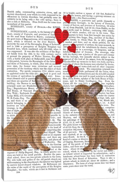 French Kiss And Hearts I Canvas Art Print