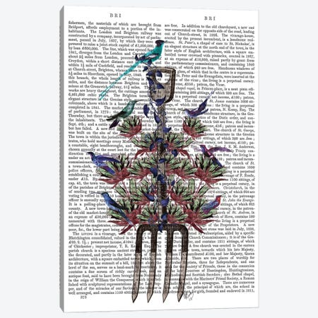 Garden Fork And Birds I Canvas Print #FNK315} by Fab Funky Canvas Art Print