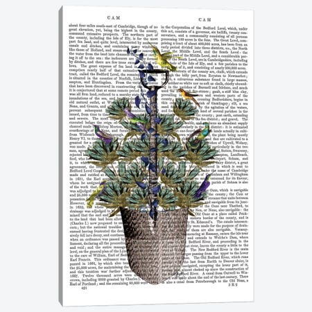 Garden Spade And Birds I Canvas Print #FNK318} by Fab Funky Canvas Artwork