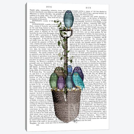 Garden Spade And Owls I Canvas Print #FNK319} by Fab Funky Canvas Art