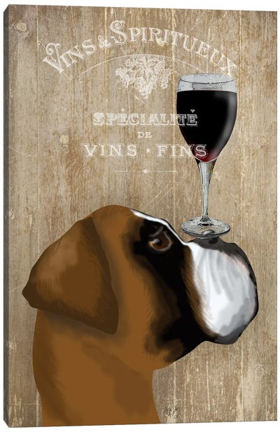 Dog Au Vine Boxer Canvas Art Print