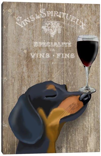 Dog Au Vine Dachshund Canvas Print #FNK32