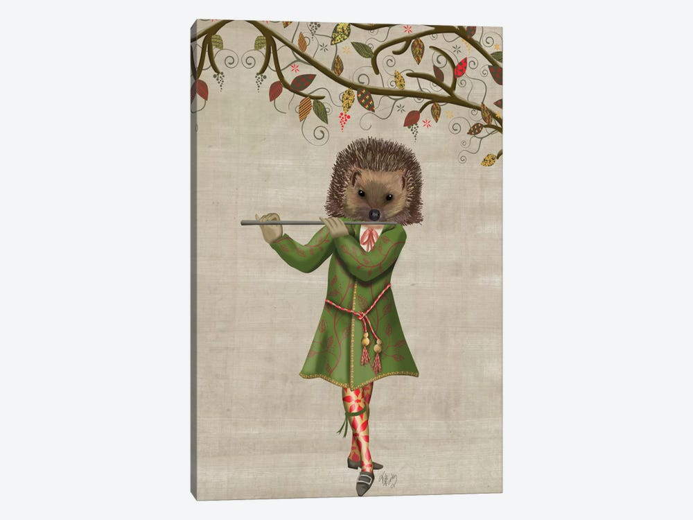 Hedgehog Minstrel II by Fab Funky 1-piece Canvas Art Print