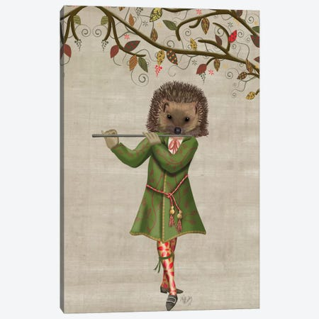 Hedgehog Minstrel II Canvas Print #FNK330} by Fab Funky Canvas Art