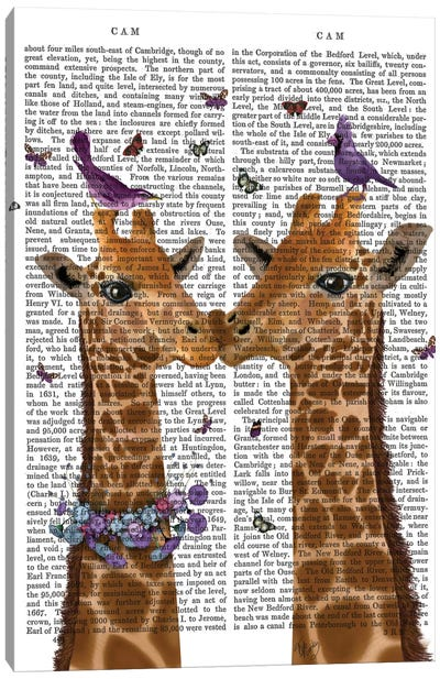Kissing Giraffes With Birds I Canvas Art Print