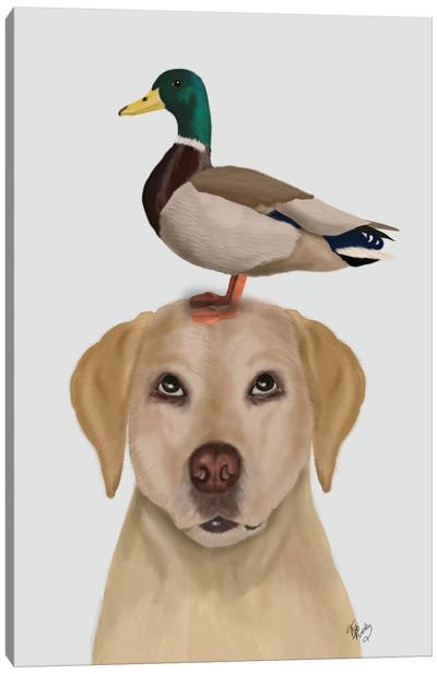 Labrador And Duck II Canvas Art Print