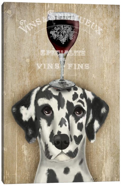 Dog Au Vine Dalmatian Canvas Art Print