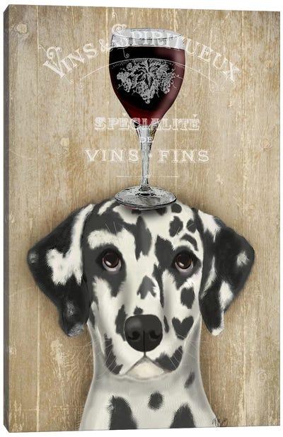 Dog Au Vine Dalmatian Canvas Print #FNK33