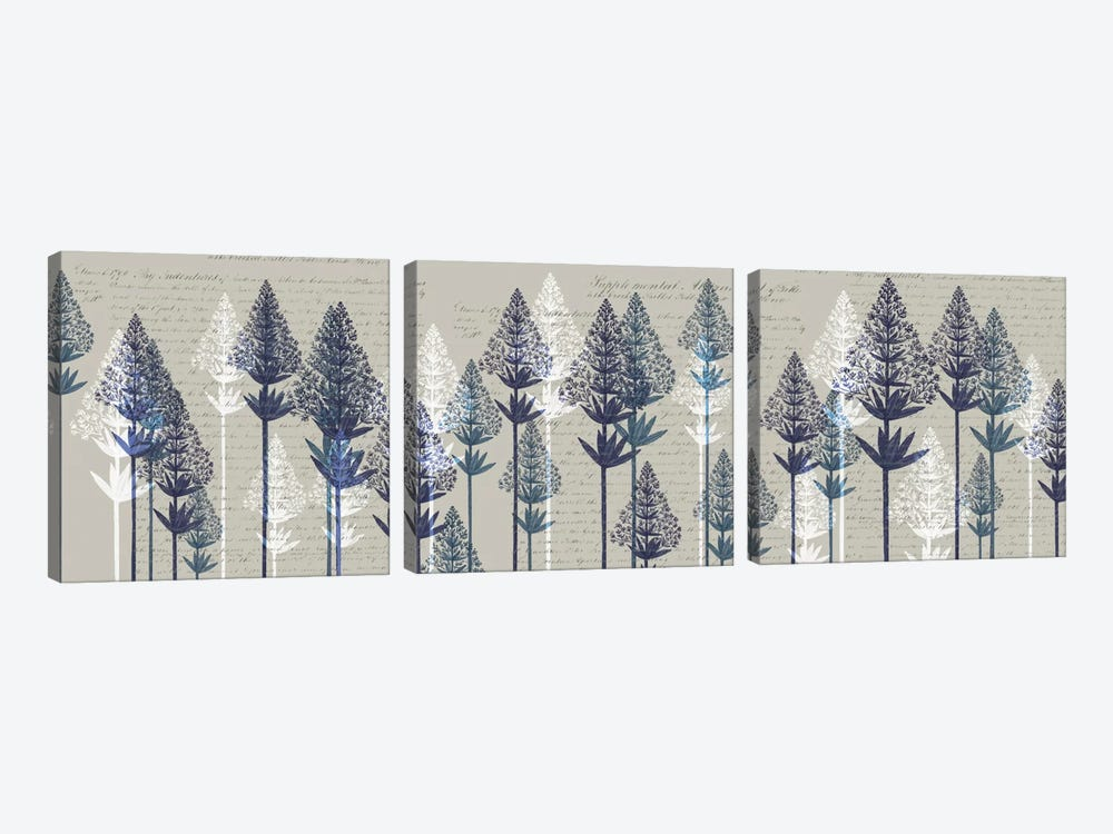 Leafy Pines I by Fab Funky 3-piece Canvas Print