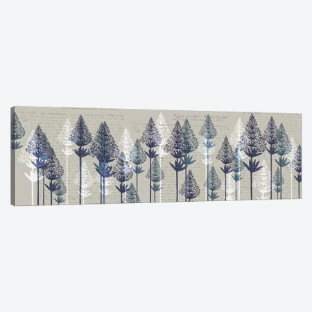 Leafy Pines I Canvas Print #FNK345} by Fab Funky Canvas Wall Art